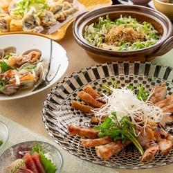 彩り豊かな創作料理に季節の土鍋ごはん【あかつきコース】