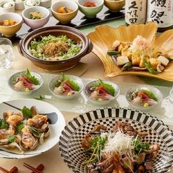 名物土鍋ご飯と肉と魚のダブルメインディッシュ【あおい(逸品)コース】