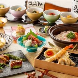 天婦羅と豪華なメイン料理を堪能【やまと(天麩羅)コース】