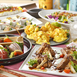彩り豊かな旬の創作料理『旬の味覚(逸品)コース』