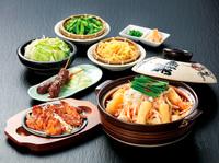 ・枝豆 ・セセリ(赤) ・トロ(赤) ・塩キャベツ ・本日の1品 ・鍋 ・〆