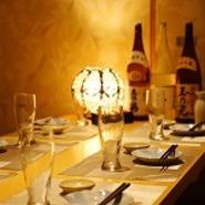 大事なお話は個室でしたいものです。お料理もお客様のご希望に合わせて変更可能です。落ち着いた雰囲気の室内で、ゆったりと会話をしていただけます。人数にあわせて個室をご用意できます。何名様でも個室でご案内。