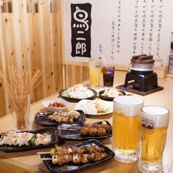 焼き鳥、サラダ、ドリンクなど3時間食べ放題、プレミアム飲み放題コース!!