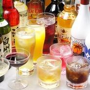 豊富なドリンク150種類以上、日本酒 洋酒 ソフトドリンク各種ご用意しております。 飲み放題の時間も2時間、3時間選べます。