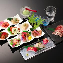 女子会や飲み会、お食事などにも最適なリーズナブルコース! 飲み放題は2時間1280円でお付けできます。
