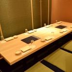 華やいだ雰囲気の個室は、両家の顔合わせにもふさわしい空間です