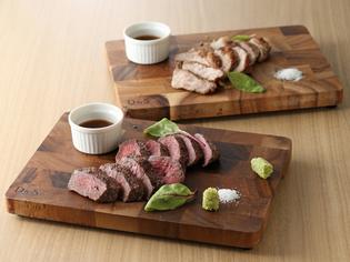 牛、豚ともに厳選した『オーシャンビーフと雪室豚の熟成肉』