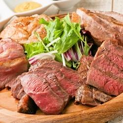 ◆炉区オススメの肉3種付き!!気軽に楽しめるコースをご用意しました♪