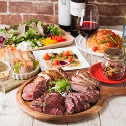 ◆おすすめ牛&イベリコ豚&若鶏のミックスグリル3種が味わえる、お得でスタンダードなパーティーコース