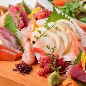 素材にこだわった、新鮮な海の幸の料理を提供しています