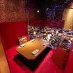 仲間内の飲み会や会社宴会、ご接待などシーンに合わせてお部屋をご用意致します。オシャレでプライベート空間漂う素敵なお席をご案内致します。