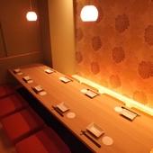 和モダンな個室で開く、両家の親睦を深めるための食事会