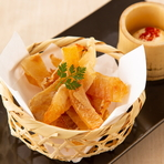 北海道産 帆立稚貝の塩麹バター蒸し