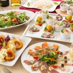 ダブルメインディッシュと旬の食材を満喫