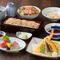 お刺身、天ぷら、選べるお蕎麦、甘味もついた宴会におススメの全7品のコース。