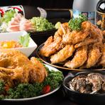 みんなでわいわい盛り上がれる、ボリュームたっぷりの鶏料理