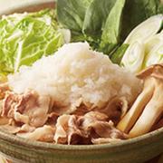 お鍋の定番ちゃんこ鍋、お好みでスープが選べます。お好みのスープをお選びください⇒ ・ 濃く塩 ・ 醤油 ・ チゲ