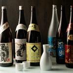 日本酒は『浦霞』など厳選したお酒をラインアップ。焼酎も充実