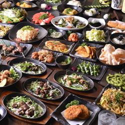 全長70cm!3種のロングユッケ寿司食べ放題+デザート含む4品+2時間飲み放題で2980円!