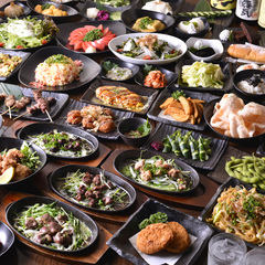 自慢の鶏料理や新鮮お造りなどを豪華に楽しめるコース♪会社宴会や合コンにもおすすめです♪
