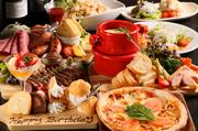2時間飲み放題付きのお得なコースが充実。どの料理もサーロインステーキをはじめ、肉メインのメニュー構成となっており、お腹いっぱいになります。中でも5000円コースがおすすめ。