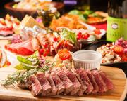 ステーキと飲み放題も付いた大満足のコース!各種宴会や女子会などにもオススメ♪