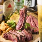 ステーキ付きの肉食宴会