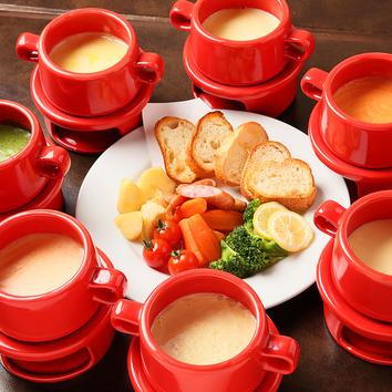 ●チーズフォンデュ&ローストビーフ食べ放題!
