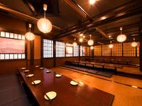 最大60名様までの宴会にご利用いただける座敷の広間