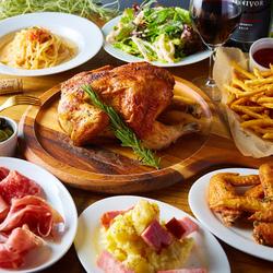 イタリアンの定番メニューを気軽にたっぷり楽しめるコースです。国産牛肉を使用した選べるメインがポイント