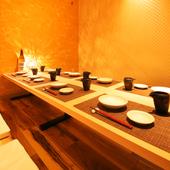 清潔感があり安らぐ空間◎少人数~団体向け各個室を完備!