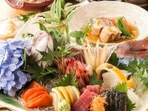 産地直送の新鮮旬魚や厳選肉を使用した絶品和食