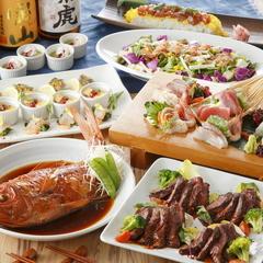 中トロ鮪とブリの出汁しゃぶ 又は 高級ラムしゃぶを2種のつけダレで愉しめるコース 4950円⇒4500円(税込)
