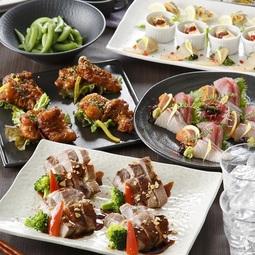 特選豚の昆布焼きと海鮮が楽しめる『旬の味覚コース』