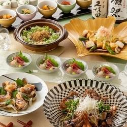糸島産雷山豚の低温ステーキと名物土鍋ご飯を味わう『瀬戸内コース』