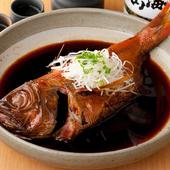 脂ののった金目鯛の美味しさを存分に堪能できる『特大 金目鯛の煮付け』