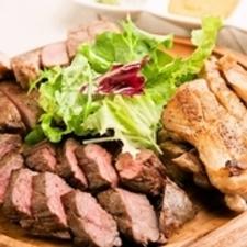 一皿で2種類の部位を食べ比べできる『アメリカ産Tボーンステーキ』