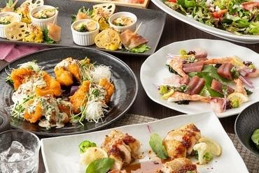 肉と魚が楽しめる『季節の創作(逸品)コース』
