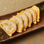 熊本県の郷土料理からしれんこんを揚げたて熱々で召し上がれ。  【価格】580円