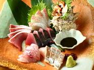 朝どれの鮮魚を存分に楽しむ『魂の刺身盛り合わせ』