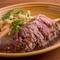 アンガス牛のステーキ 和風ガーリックソース