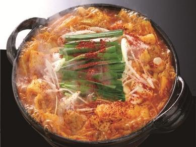 旨辛がたまらない「赤から鍋」味噌のコク&プリプリもつ&たっぷりの野菜が楽しめる! (1人前)