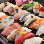 前菜・お造り・巻寿司・寄せ鍋・素麺・デザート