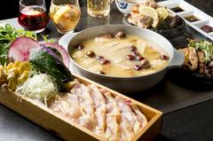 愛知県産銘柄鶏『木曾美水鶏』の鉄板焼きを新鮮な巻き野菜とともにお召し上がりいただく【かしわスタイル】