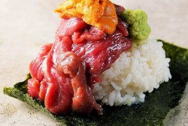 【肉割烹】雲丹肉寿司や牛タンしゃぶしゃぶが人気♪