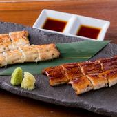 日本酒、焼酎とともに楽しむ『白焼・蒲焼合盛り』