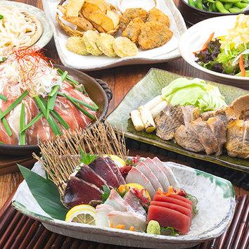 『豊コース』鮮魚三点盛/三元豚陶板焼きなど料理9品+2H飲放付
