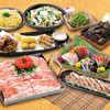 鹿児島県産黒豚の鉄板焼きや九州の逸品を味わってください。2時間の飲み放題付!