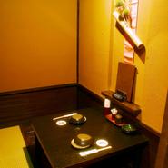 2名席の個室となります。 デートや接待等プライベートシーンにおすすめです。