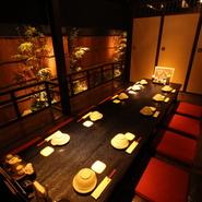 10名席の広い個室となります。 宴会や会社の飲み会等におすすめです。